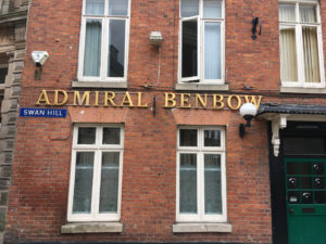 The real Admiral Benbow pub - in Shrewsbury